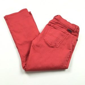 Lucky Brand Sweet n' Cropped Straigh Red Jeans
